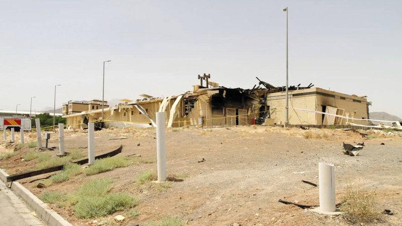 آثار الحريق في منشأة نطنز الإيرانية. رويترز