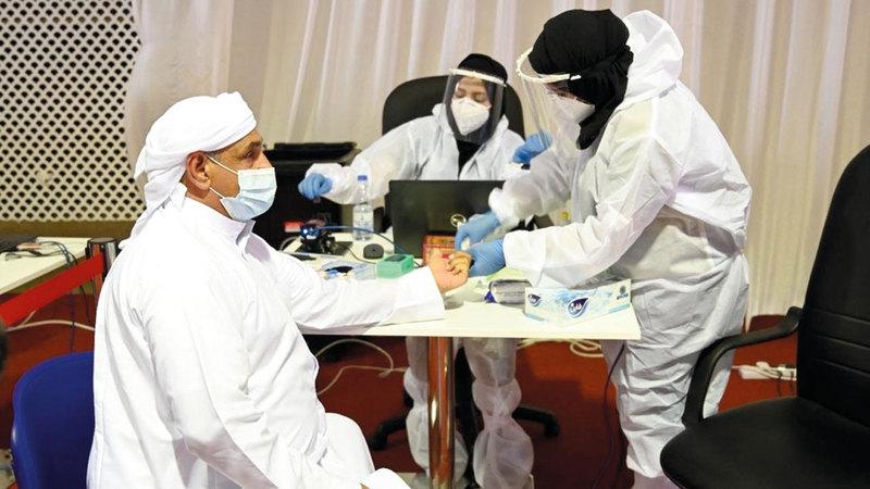 تقنية «DPI» تعتمد على فحص عينات من الدم وقراءة شكل الخلايا. تصوير: يوسف الهرمودي