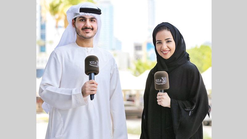 علياء بوجسيم ويوسف العوضي.   من المصدر