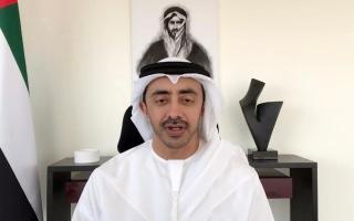 عبدالله بن زايد للجالية الفلسطينية بالدولة : الإمارات ستظل دائما الحاضنة الأمينة لكم و لأسركم thumbnail