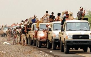 الصورة: قوات الشرعية اليمنية تدمّر تعزيزات حوثية في محيط صنعاء