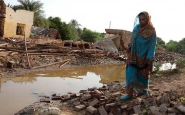 الصورة: 5 قتلى وتدمير مئات المنازل جراء فيضانات السودان