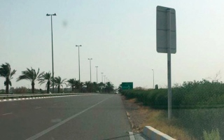 الصورة: لقطة.. لوحة عكس السير