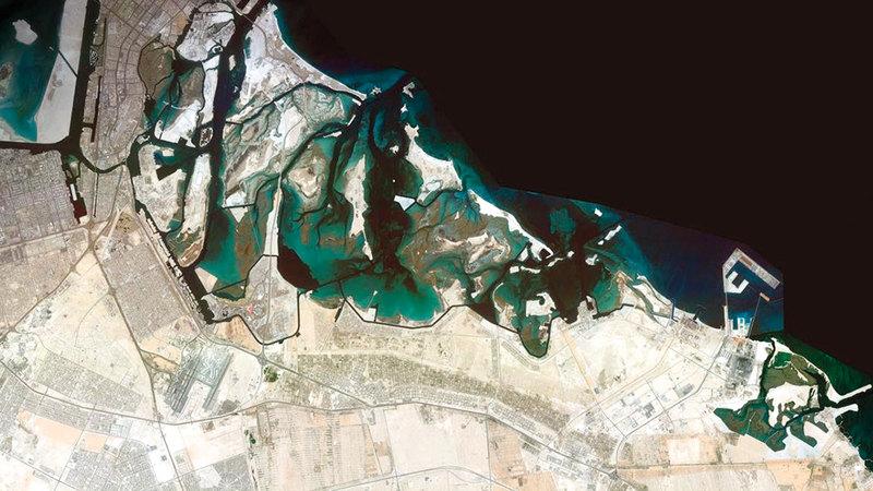 الخريطة المحدّثة تعتمد على إجراء مسح شامل للمناطق الجغرافية في الإمارات.   من المصدر