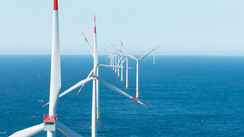 طواحين الرياح أسهمت في توليد 55 مليار كيلوواط من كهرباء ألمانيا خلال النصف الأول من عام 2019.   أرشيفية
