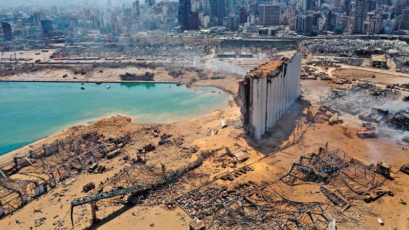 الانفجار خلّف دماراً كبيراً وخسائر مالية وبشرية. رويترز