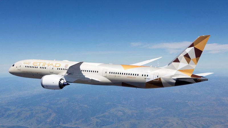 «الاتحاد للطيران» تخطط لزيادة رحلاتها إلى نصف الحجم الذي بلغته قبل «كورونا» بحلول الشهر المقبل.  من المصدر