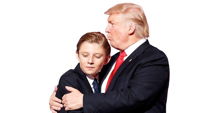 مدلّل لدى والده.