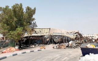 125 محلاً تجارياً تضررت بالكامل في حريق سوق عجمان thumbnail