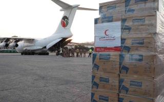 الصورة: بتوجيهات محمد بن زايد.. وصول طائرة مساعدات إماراتية إلى لبنان