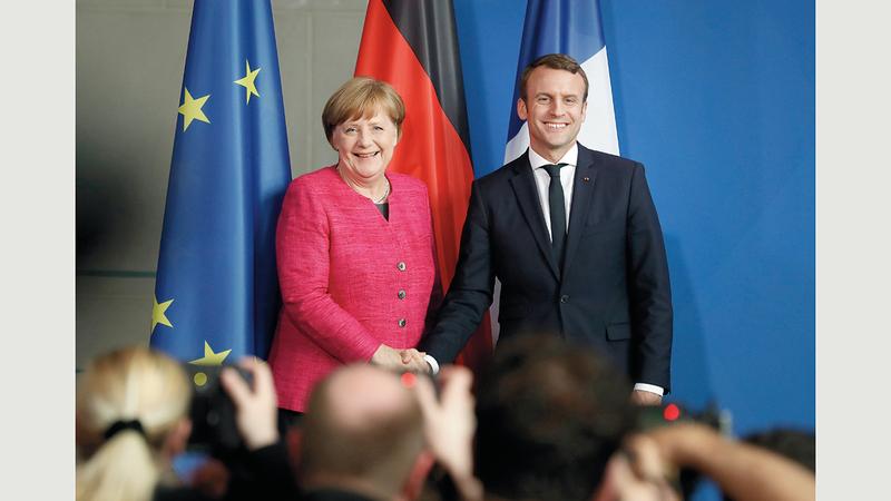 اتخذت ميركل وماكرون خطوة في الاتجاه الصحيح عندما اقترحا وضع صندوق من أجل تعافي أوروبا. غيتي