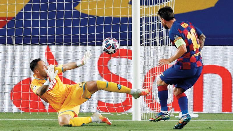 ميسي سجل هدفاً ألغاه الحكم. أ.ف.ب