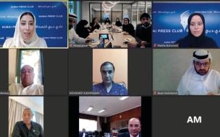 الصورة: «دبي للصحافة» يبحث التعاون مع قيادات إعلامية مصرية