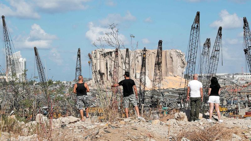 انفجار المرفأ حوّل بيروت إلى مدينة منكوبة.   أ.ف.ب