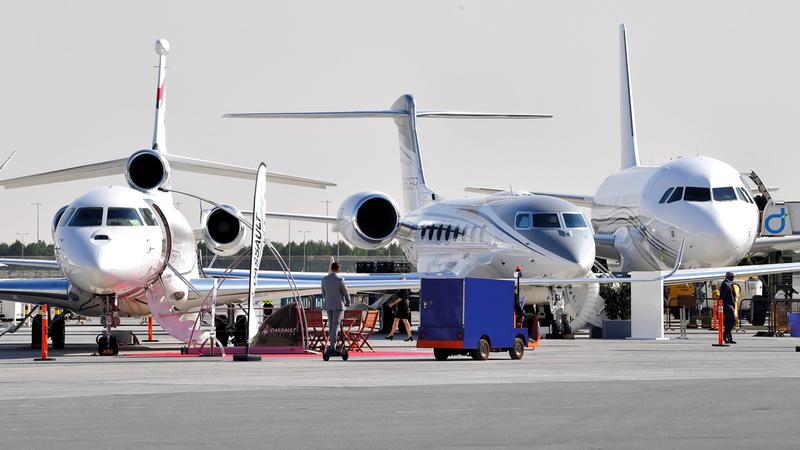 «ميبا» يتوقع دخول 7000 طائرة جديدة إلى قطاع الطيران الخاص على المستوى العالم في 2037.  تصوير: باتريك كاستيلو