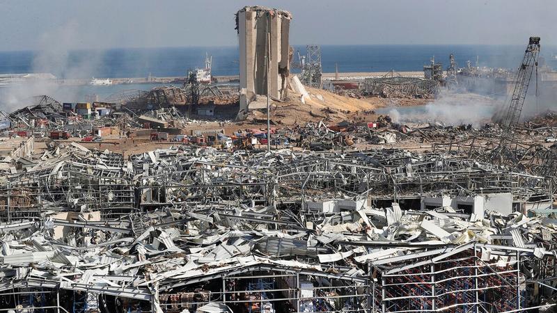 انفجار الميناء أدخل لبنان في أزمة غير مسبوقة.   أرشيفية