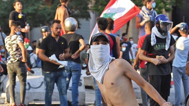 احتجاجات اللبنانيين سبقت الانفجار.   أ.ف.ب