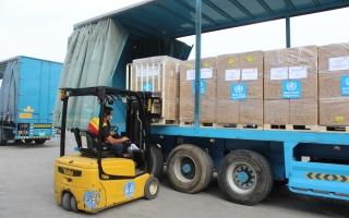 الصورة: بتوجيهات محمد بن راشد.. شحنة مساعدات جديدة من الإمارات لشعب لبنان