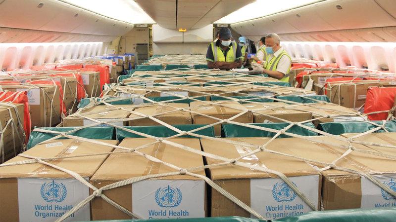 المساعدات للبنان تأتي استمراراً لنهج الإمارات الإنساني والإغاثي والتنموي.   وام