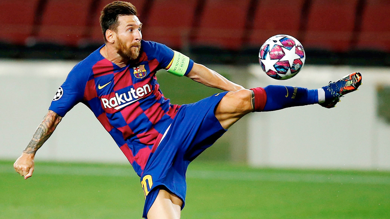 برشلونة يحتاج إلى إبداع ميسي اليوم لاختراق دفاع البايرن.  إي.بي.إيه