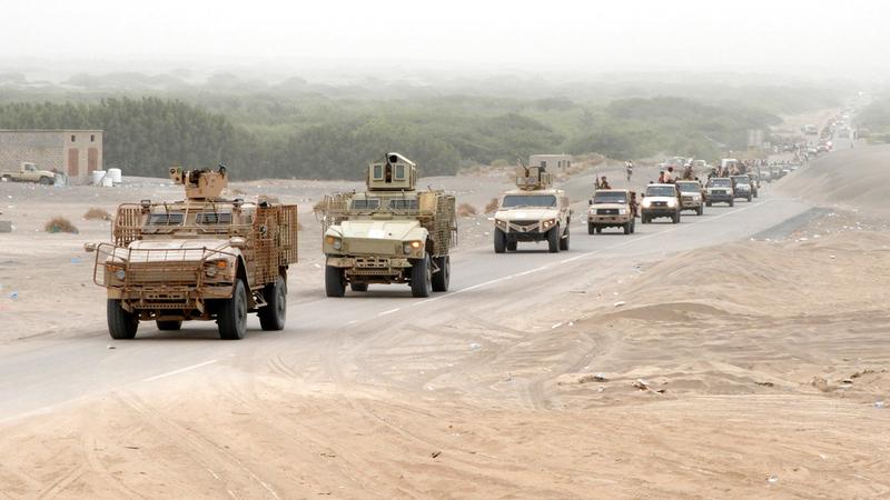 قوات من الجيش اليمني خلال تنفيذ عمليات ضد الميليشيات.  أرشيفية