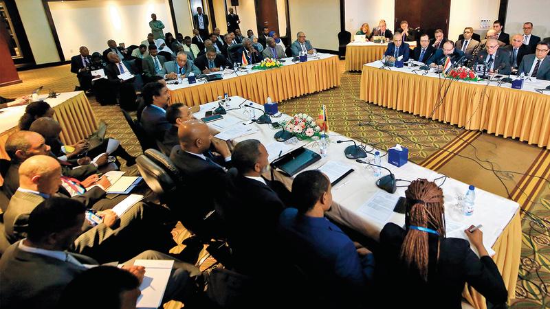 المفاوضات بين إثيوبيا ومصر والسودان تجاهلت بداية الموضوعات الأساسية. غيتي