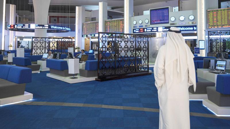 المؤشر العام لسوق دبي ارتفع بنسبة 1.03%.  تصوير: أشوك فيرما