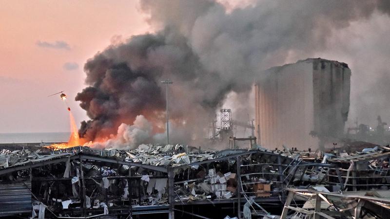 انفجار بيروت أدى إلى فقدان 10% من سكان المدينة منازلهم. أ.ف.ب