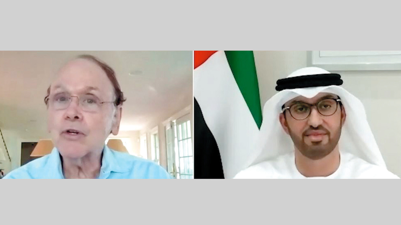 الجابر ناقش تطورات قطاع الطاقة خلال جلسة حوارية افتراضية مع الخبير الاقتصادي العالمي دانييل يورغن. من المصدر