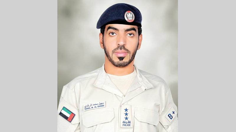 النقيب سهيل الراشدي:  «شرطة أبوظبي تبذل جهوداً كبيرة عند نقطة تفتيش غنتوت لتنظيم دخول خيمة الفحص».
