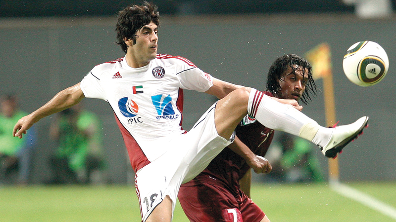 عبدالله موسى توقف عن اللعب في السنوات الماضية بسبب خلافات مع ناديه السابق الجزيرة.  ■ الإمارات اليوم