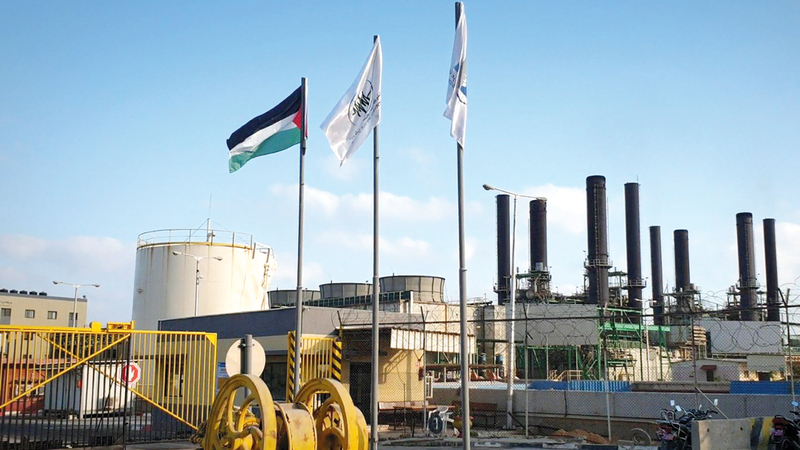 محطة كهرباء غزة أعلنت عدم مقدرتها على تحديد جدول منتظم لتوزيع للكهرباء منذ منتصف أغسطس. الإمارات اليوم