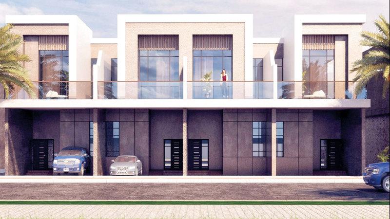 المشروع عبارة عن إنشاء أربع فلل سكنية.  من المصدر