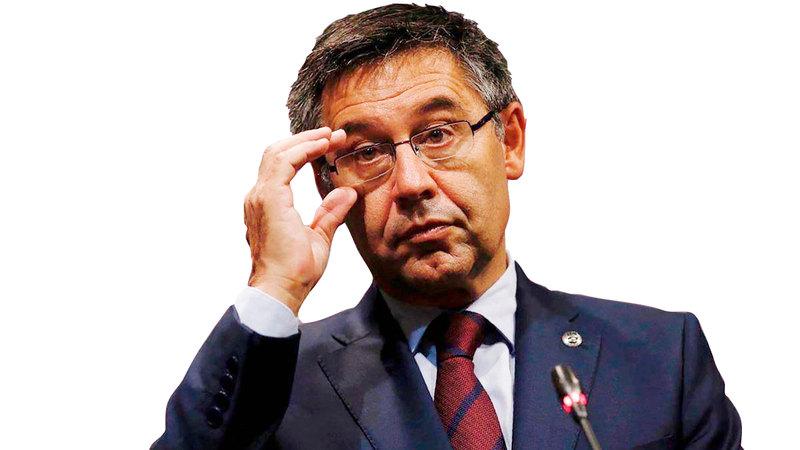 رئيس نادي برشلونة جوسيب بارتوميو.- أ.ف.ب
