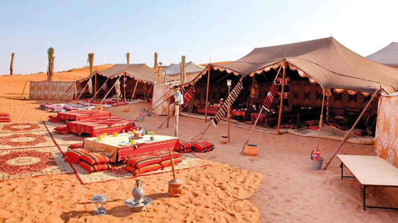 القرار يشمل المُخيّمات السياحية كافة في إمارة دبي. أرشيفية