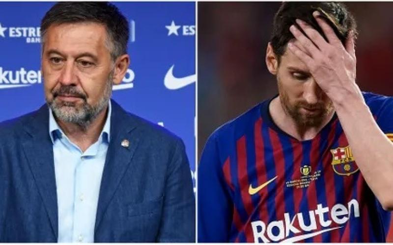 """الصورة: بالفيديو.. الحوار الكامل لميسي واتهامه رئيس برشلونة بخيانة العهد وعن """"بكاء عائلته"""""""