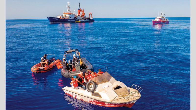 ارتفاع معدلات الهجرة غير الشرعية عبر البحر هذا العام. أرشيفية