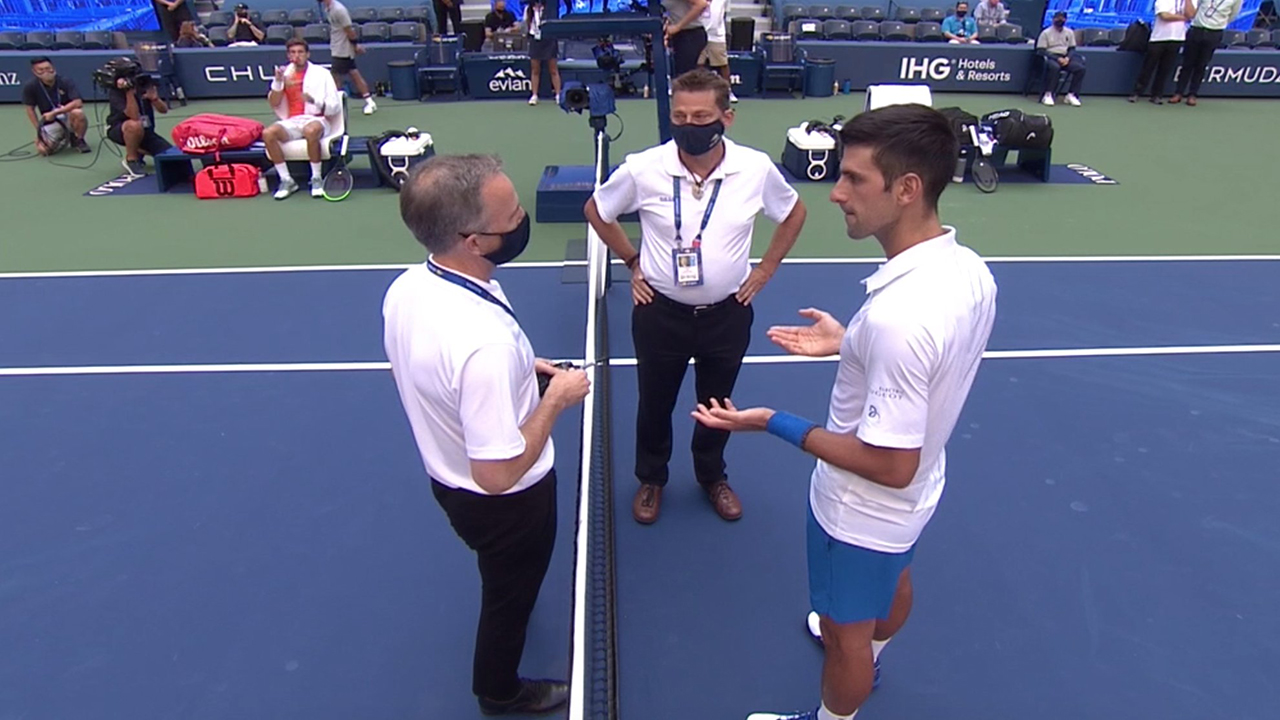 Pictures Djokovic Was Kicked Out Of The Us Open For A Stray Ball Teller Report