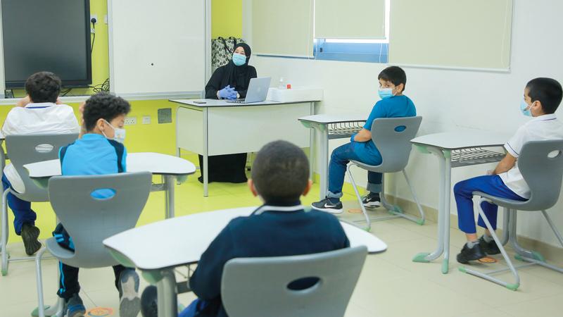 «التربية» عملت مع الميدان التربوي على وضع بروتوكولات إعادة افتتاح المدارس.    تصوير: باتريك كاستيلو