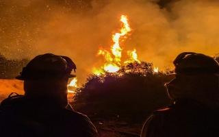 الصورة: بالصور: الحرائق تلتهم غابات كاليفورنيا