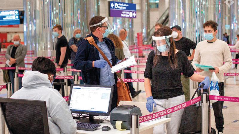 الدولة تطبق أفضل الإجراءات والتدابير الصحية لضمان صحة وسلامة المسافرين. من المصدر