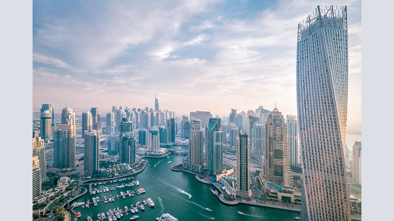 القطاع العقاري في دبي كان خلال السنوات الـ20 الأخيرة قاطرة النمو الاقتصادي للإمارة. أرشيفية