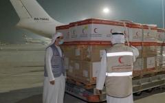 الصورة: طائرة مساعدات طبية ثالثة من «الهلال الإماراتي» تصل إلى دمشق