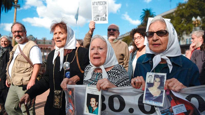 الأمهات الأرجنتينيات لم يفقدن الأمل برؤية ذويهن. أرشيفية