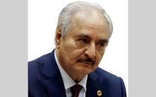 الصورة: حفتر يعلن إعادة فتح المنشآت النفطية الليبية بـ «شروط»