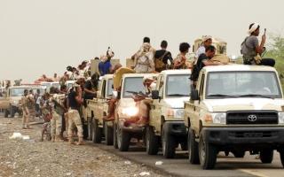 الصورة: الجيش اليمني يحرر مواقع بين مديريتي رحبة وجبل مراد بمأرب