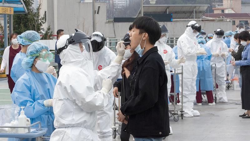 حافظت كوريا الجنوبية على مستوى إصابات بـ«كورونا» منخفض نسبياً.   أرشيفية
