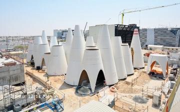 الصورة: النمسا تنتهي من الهيكل الأساسي لجناحها في «إكسبو 2020 دبي»