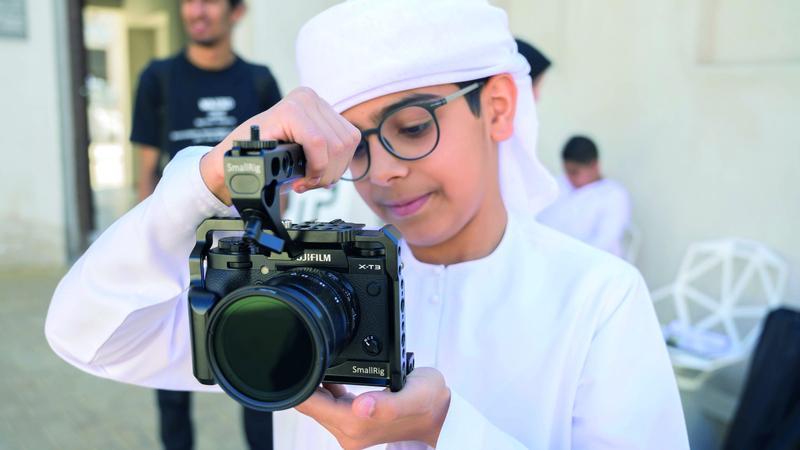 «فن» معنية بتعزيز ودعم الفن الإعلامي للأطفال والناشئة في الإمارات. من المصدر
