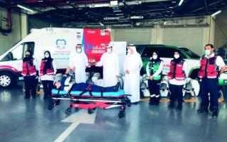 عائلة مواطنة تتبرع بـ100 جهاز إنعاش لإنقاذ مرضى توقف القلب لـ«إسعاف دبي»
